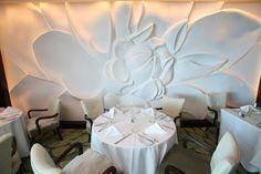Dining in Blu Decoration Faux Plafond, Celebrity Eclipse, Plaster Art, Backdrop Design, 3d Wall Panels, Wallpaper Decor, Glass Ceramic, Wall Treatments, Beautiful Wall