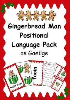 Irish - Positional Language flashcard and activity pack as Gaeilge (Christmas themed) Irish Language, Speech And Language, Second Language, Positional Language, Irish Christmas, Xmas, Classroom Displays, Classroom Ideas, Traditional Tales