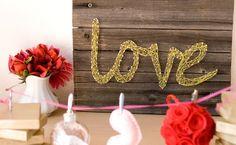 String Art {diy artwork} - Tip Junkie Valentine Love, Valentines Diy, Diy Artwork, Diy Wall Art, Wall Decor, Nursery Artwork, Room Decor, String Art Diy, Nail String