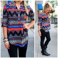 Cute chevron print blouse