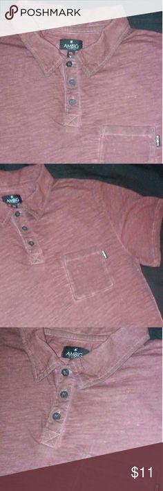 ❤Ambig 3 Button Shirt Ambig Polo Style shirt. Size Medium . great condition . Ambig Shirts Polos