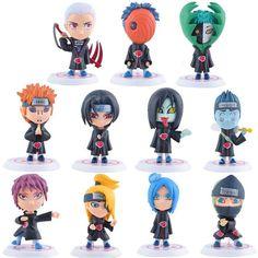 Naruto Shippuden Mini PVC Figurine Set 6 Pieces - OtakuForest.com