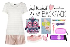 """""""Backpack"""" by blueeyed-dreamer ❤ liked on Polyvore featuring Monsoon, New Look, ban.do, House of Holland, Vera Bradley, Lego, Vans, Skechers, BackToSchool and backpack"""