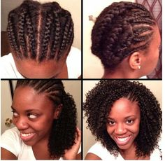 Cornrows For Crochet Braids Ideas crotchet braids tutorial side cornrows left exposed Cornrows For Crochet Braids. Here is Cornrows For Crochet Braids Ideas for you. Cornrows For Crochet Braids i tried diy crochet braids and this is wha. Crochet Braids Hairstyles, African Hairstyles, Braided Hairstyles, Chrochet Braids, Amazing Hairstyles, Prom Hairstyles, Pelo Natural, Natural Hair Tips, Natural Hair Styles
