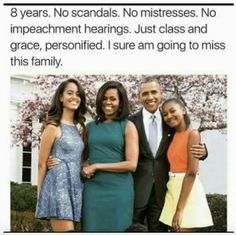 The First Family of the United States of America: President Barack Obama, First Lady Michelle Obama and First Daughters Malia and Sasha.