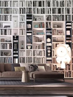 Some amazing looking bookcases from Poliform at the click-through ...