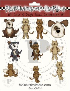 Cats & Dogs ClipArt Collection #1