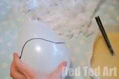 Easter Crafts Tissue Paper Mache Baskets