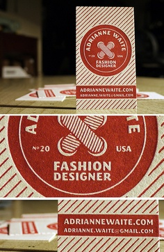 Fashion Designer Business Cards by MikeGalore, via Flickr