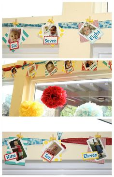 Dr. Seuss Birthday Party Month to Month Banner