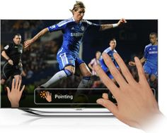 Touching the Samsung Smart TV while soccer is playing