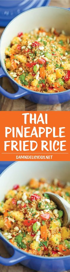 Thai Pineapple Fried Rice - Finally, a healthy, hearty fried rice made with quinoa! And it comes together in just 10 minutes - it really doesn't get any easier!