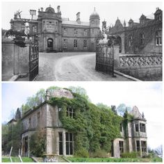 Abandoned in Kilmartin,Scotland - Poltalloch House before & after.