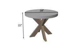 Concrete X-Brace Side Table | Dimensions