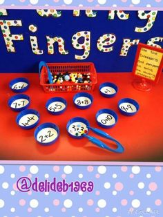 Doubling activity for Funky Fingers table Year 1 Classroom, Year 1 Maths, Early Years Maths, Eyfs Classroom, Early Math, Early Learning, Maths Eyfs, Eyfs Activities, Motor Skills Activities