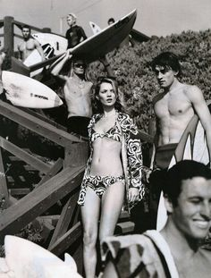 'The Surf Report'. Kate Moss photographed by Mario Testino for Harper's Bazaar US, April 1996.