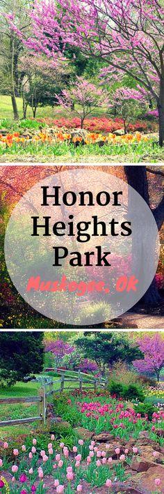 Honor Heights Park in Muskogee, Oklahoma is a springtime garden wonderland.