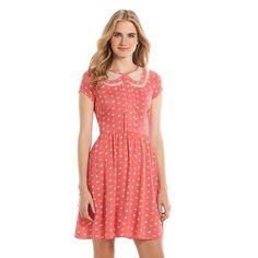 Lauren Conrad Disney Minnie Mouse Coral Dress