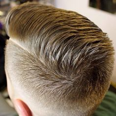 Top/hind view of fresh comb over with hard part. From comb-overs, pompadours, to…