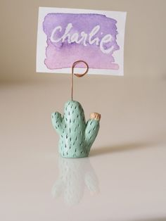 Cactus table number holder - Cactus photo holder - Cactus wedding place card…