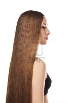 Schönes langes Haar Stockfoto