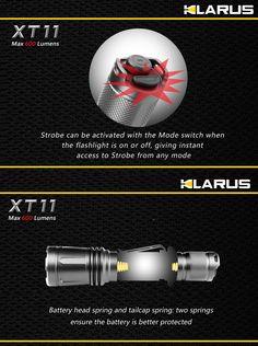 Lampe Torche Klarus XT11 - 600Lumens - lampe tactique police ultra puissante
