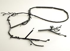 Lauren Simeoni «Controlled Burn» necklace & Brooch