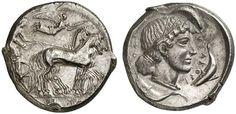 AR Tetradrachm. Greek Coins, Italy, Sicily, Syracuse. Circa 450-440 BC. 17,17g. SNG ASN 184. Nearly EF. Price realized (2011): 2.800 USD.