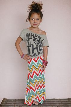 Girls Chevron Maxi Skirt from Gypsy Outfitters