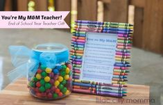 You're My M & M Teacher! Teacher Gift Idea with free printable!