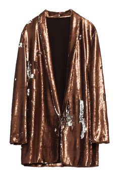 Let's face it, your outerwear is sometimes just as important as the outfit underneath! No one wants to find the perfect little black dress, just to cover it up with a monstrous bubble jacket or Grandma's hand-me-down winter coat.  Add some glam to your outer gear game with this Zara Sequined Blazer and more fabulous women's coats!