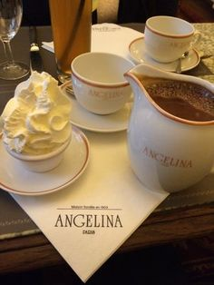 Café Angelina, Paris, the Best Hot Chocolate.. I think my character Madame Bonnard would go here.                                                                                                                                                     More