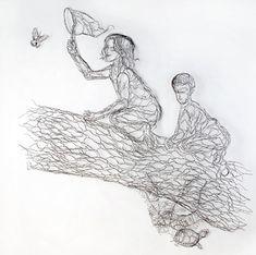 Elizabeth Berrien · World Class Wire Sculpture and Illustration · WIRE WALL ART