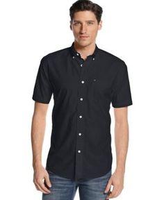 9eedf6cf Tommy Hilfiger Big & Tall Men Maxwell Short-Sleeve Button-Down Shirt