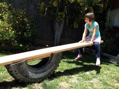 Best Easy Backyard Playground Ideas For Your Kids Tire Playground, Outdoor Playground, Outdoor Toys, Outdoor Fun, Playground Ideas, Natural Playground, Outdoor Ideas, Backyard For Kids, Backyard Projects