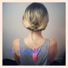 tutoriel coiffure basse facile