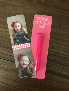 Preschool Valentines Day Handout. #kids #valentinesday #bubbles #craft #bookmark