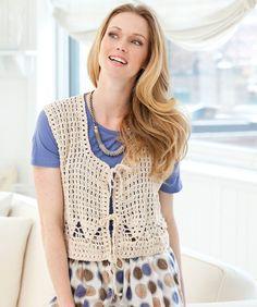 Flirtation Vest--free pattern to crochet