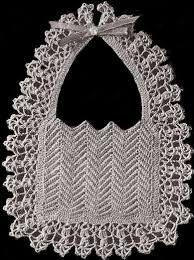 Vintage Crochet Baby Bib