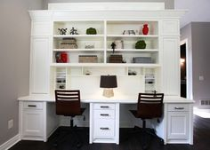 The Truberry Custom Homes model features a built-in desk next to the kitchen, allowing parents to keep an eye on kids.