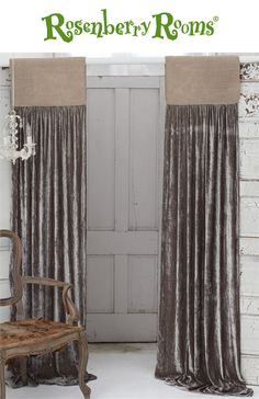 Create a sophisticated and elegant room for your child with the Luscious Soft Earth Silk Velvet with Natural Jute Header Window Curtain.  Dramatic and bold, this stunning window curtain is the perfect accessory to your child's room