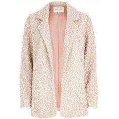 Light pink faux fur blazer - jackets - coats / jackets - women
