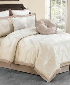 Love this Champagne Behrakis Comforter Set on #zulily! #zulilyfinds
