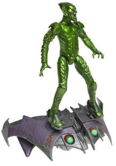 separation shoes 27a65 0076d SpiderMan Movie ToyBiz Action Figure Green Goblin Pumpkin Bomb Goblin  Glider by Toy Biz