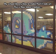 Funny pictures about Library Post-It Note Art. Oh, and cool pics about Library Post-It Note Art. Also, Library Post-It Note Art photos. Gotta Catch Them All, Catch Em All, All Pokemon, Pokemon Fan, Pokemon Stuff, Pixel Art, Do It Yourself Baby, Library Displays, Shop Displays