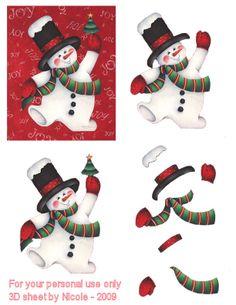 Christmas decoupage Christmas Sheets, 3d Christmas, Christmas Cards To Make, Christmas Clipart, Christmas Images, Xmas Cards, Vintage Christmas, Kirigami, Free Printable Christmas Cards