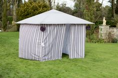 Protect yourself and your loved ones from the scorching Irish heat.or lashing rain with this beautiful Striped Beer Garden, Outdoor Entertaining, New Furniture, Summer 2015, Gazebo, Outdoor Living, Irish, Rain, Outdoor Structures