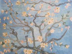 Almond Blossoms - Van Gogh  Art of Merlot - BYOB paint studio in Old Town Scottsdale