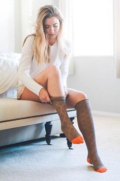 One of our store favorites, the Knee High Patterned Boot Socks are here and ready to be swooned over! We have several different color combinations including Mocha & Black, Ivory & Coral, Oatmeal & Teal and Mocha and Orange. - This style is designed to hit right below the knee - 100% Acrylic - Free & fast shipping / Easy returns - Buy securely today with Visa, MC, AMEX, Discover or PayPal Thigh Highs, Knee Highs, Lace Boot Socks, Argyle Socks, High Knees, Tight Leggings, Knee High Boots, Color Combinations, Korean Girl