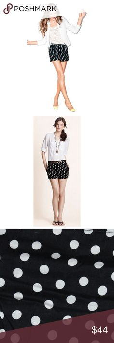 New ANN TAYLOR Black+White Polka Dot Shorts NWT E3 size 14 new with tags color: black | white designer: Ann Taylor LOFT  waist 39 inseam 4  polka dot print front slant pockets back welt pockets double bar & zipper closure belt loops  @cjrose25  More summer | resort | cruise | vacation clothing in my Posh store. Bundle & save on shipping!! LOFT Shorts